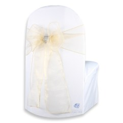 Diy Organza Chair Covers White Armless Office 50 Pcs Cover Bow Sash 108 Quotx8 Quot Wedding Party