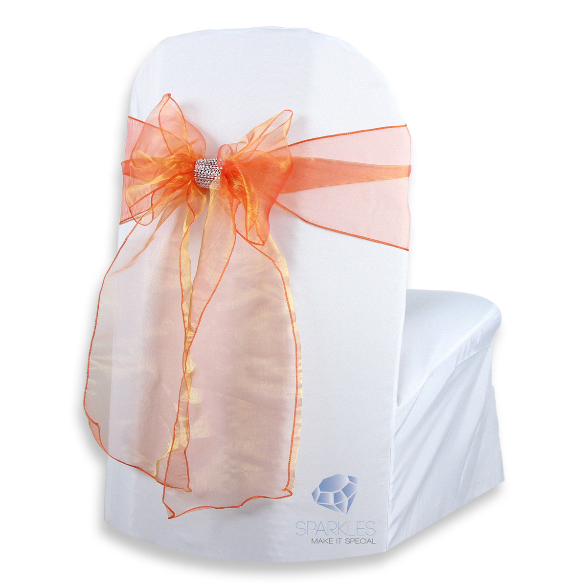 organza wedding chair sashes booster seat that attaches to 50 pcs cover bow sash 108 quotx8 quot party