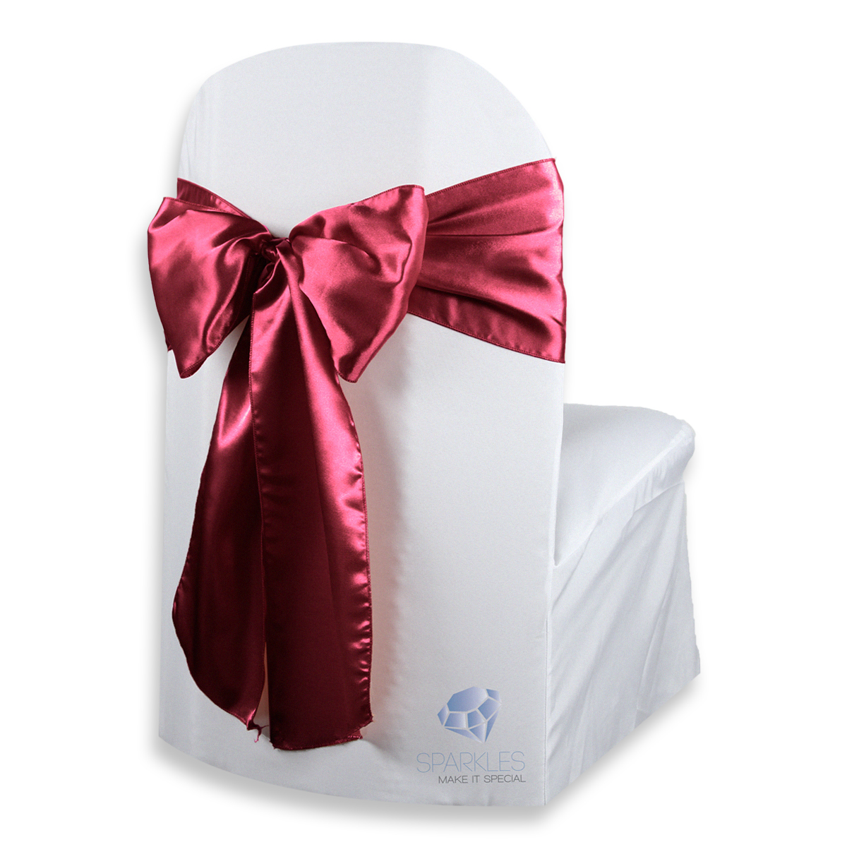 chair covers and bows ebay recliner disc target 20 pcs satin cover bow sash 108 quotx8 quot burgundy