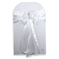 White Chair Sashes Ergonomic Posture 20 Pcs Satin Cover Bow Sash 108 Quotx8 Quot
