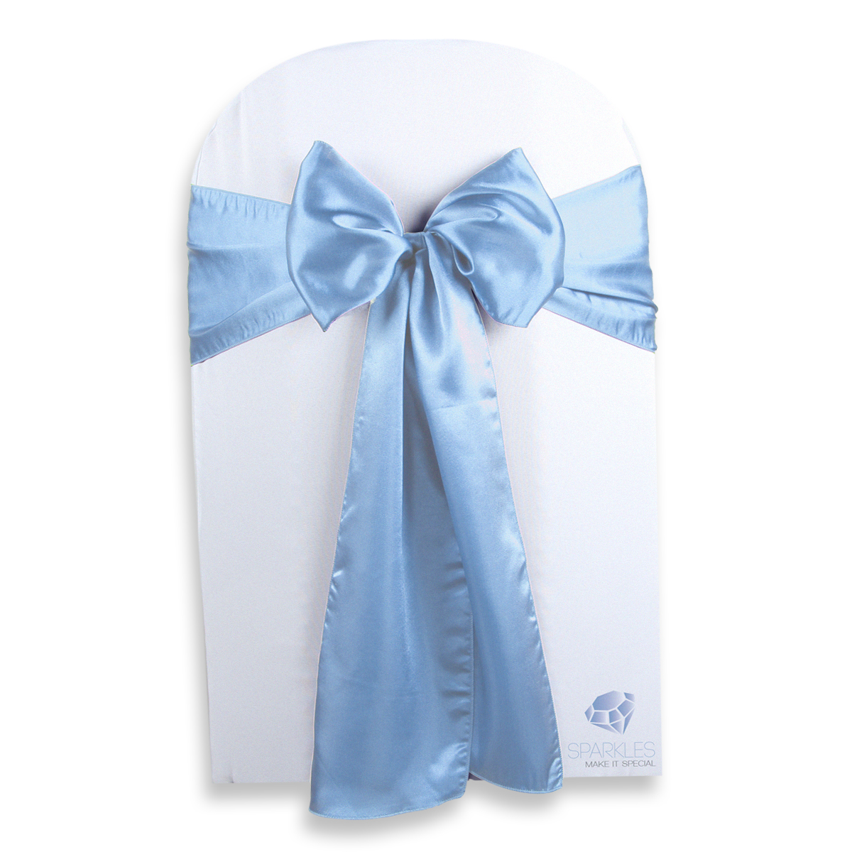 pale blue chair covers doll high kmart 50 pcs satin cover bow sash 108 quotx8 quot light
