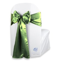 Chair Covers Sage Green Fluffy Stool Ebay 100 Pcs Satin Cover Bow Sash 108 Quotx8 Quot