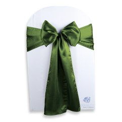 Green Chair Covers Wheelchair Entrance 200 Pcs Satin Cover Bow Sash 108 Quotx8 Quot Sage