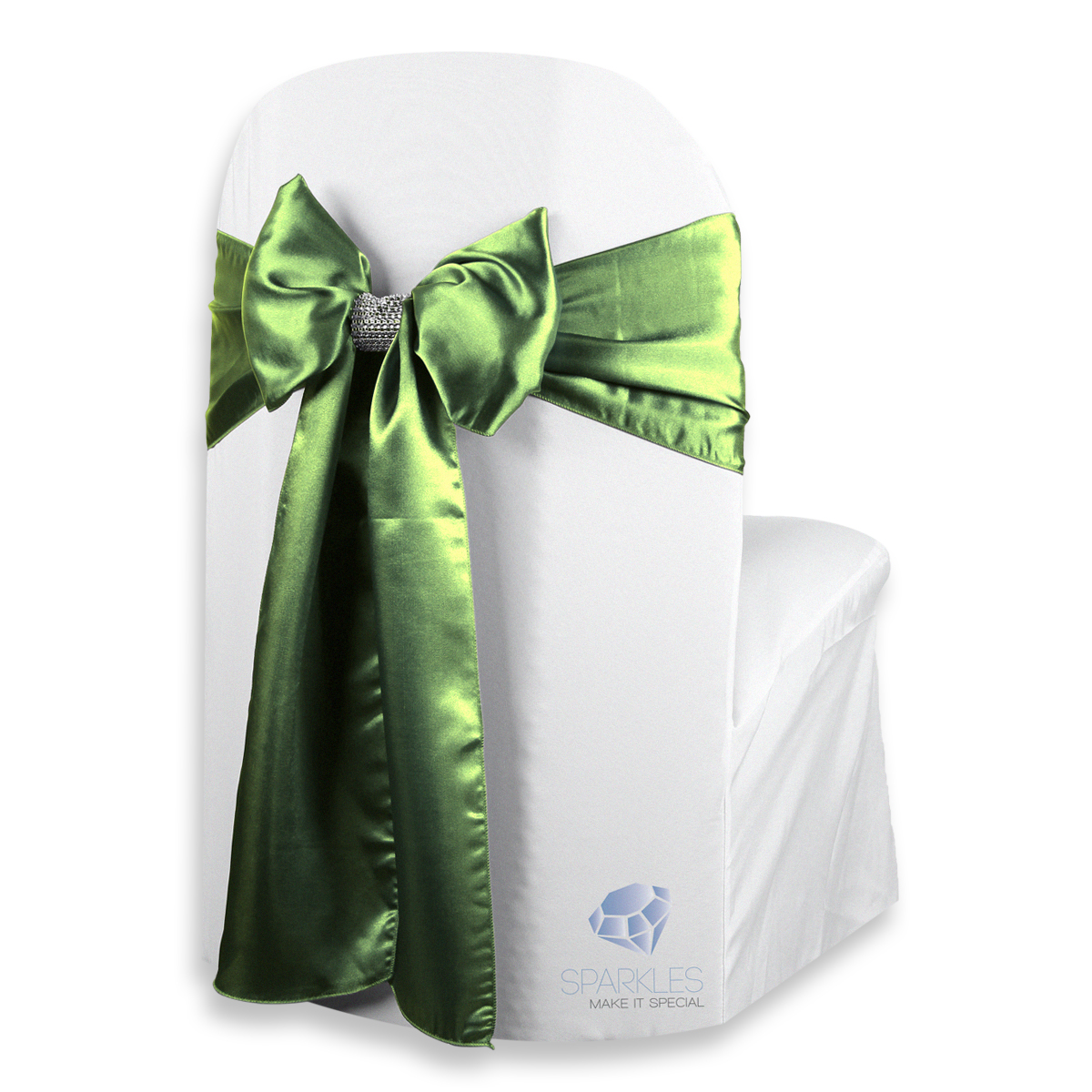 chair covers sage green swivel on carpet 5 pcs satin cover bow sash 108 x8 w zw