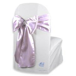 Chair Covers With Pink Bows Garden Recliner Uk 150 Pcs Satin Cover Bow Sash 108 Quotx8 Quot Lavender W