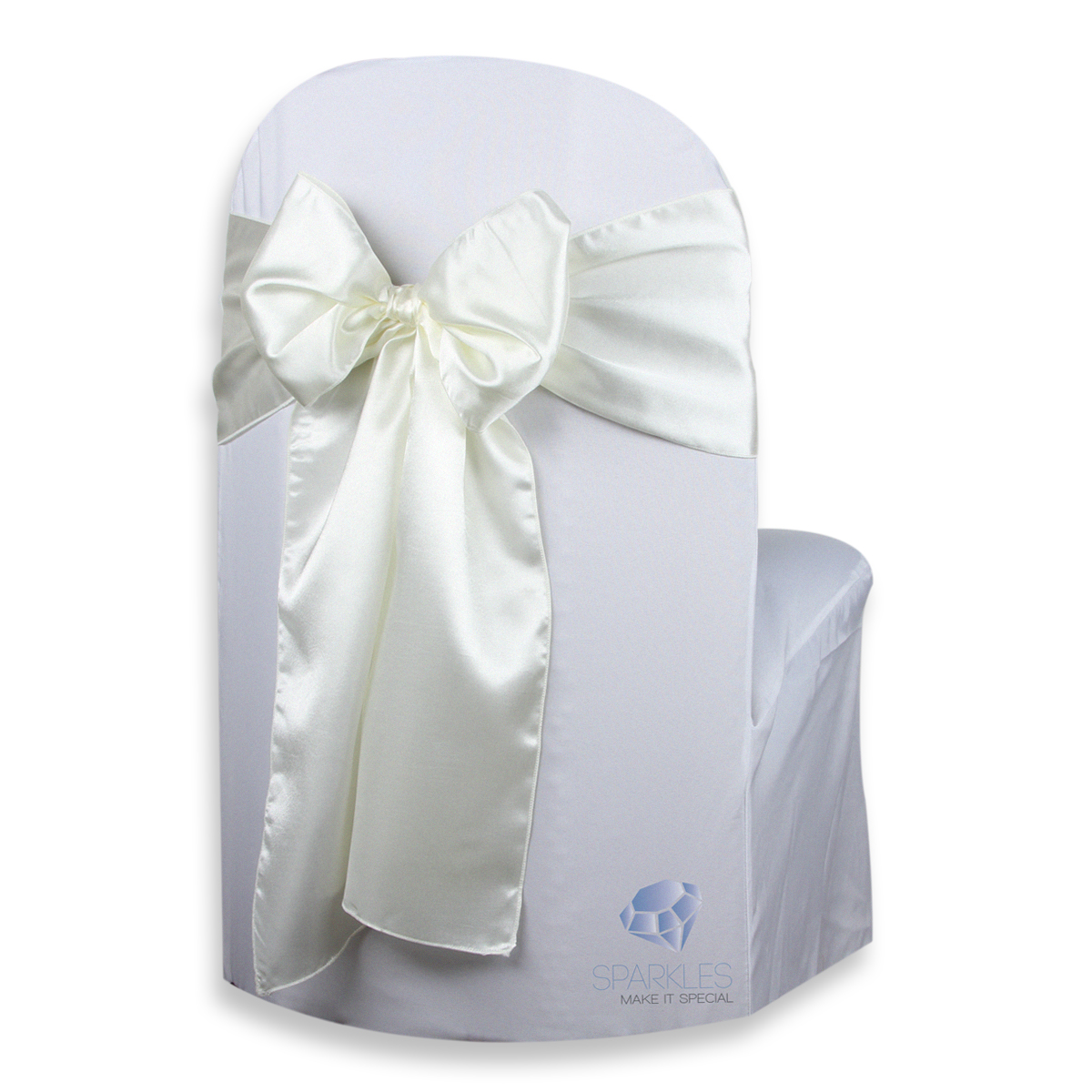 ebay ivory chair covers clear ikea 20 pcs satin cover bow sash 108 quotx8 quot wedding party