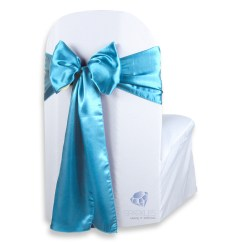 Teal Chair Covers For Wedding Little Tikes Garden 50 Pcs Satin Cover Bow Sash 108 Quotx8 Quot Party