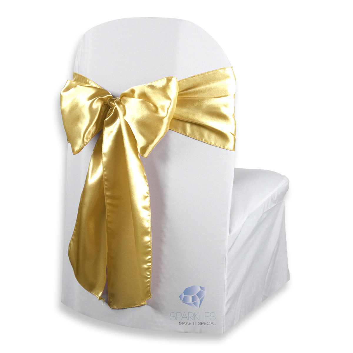 chair covers with gold sash comfortable computer 50 pcs satin cover bow 108 quotx8 quot wedding party