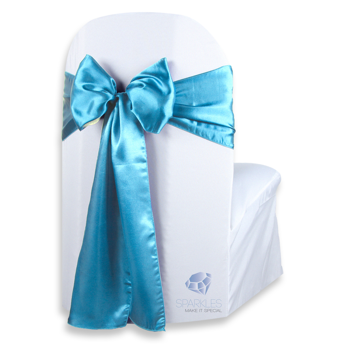 teal blue chair sashes w h gunlocke co 2 100 pcs satin cover bow sash 108 quotx8 quot wedding party