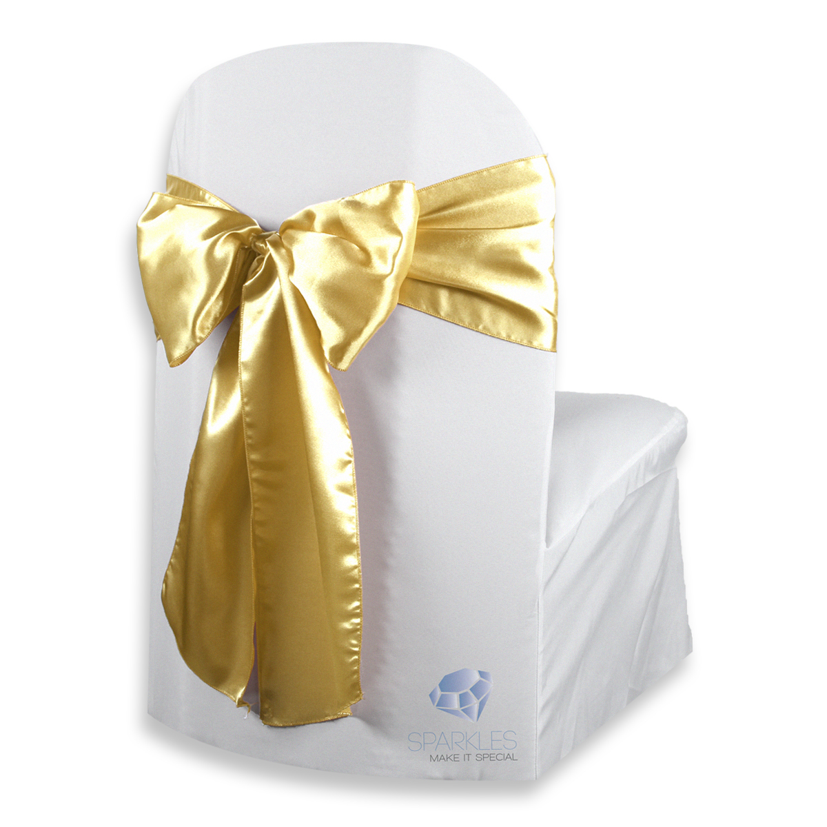 gold chair covers with black sash white wedding hire 150 pcs satin cover bow 108 quotx8 quot party