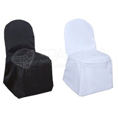Custom Banquet Chair Covers Little Tikes Polyester Black White Or Ivory Wedding Details About Reception