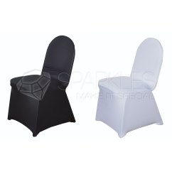 Custom Banquet Chair Covers Black High Back Cushions Spandex White Or Ivory Wedding Reception Details About