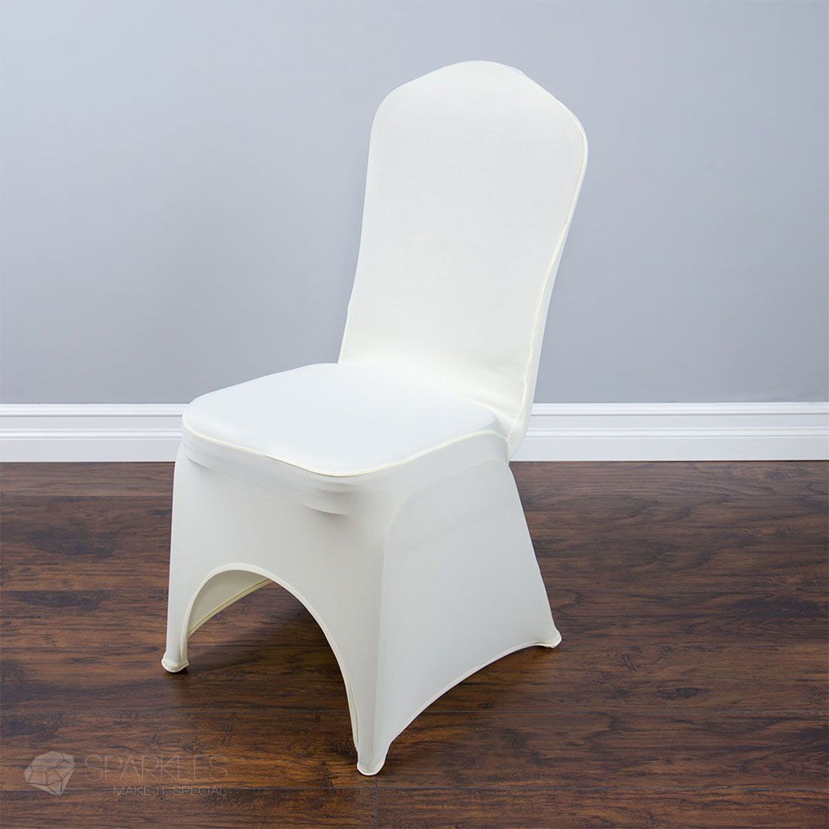white banquet chair covers hanging pretoria spandex black or ivory arched