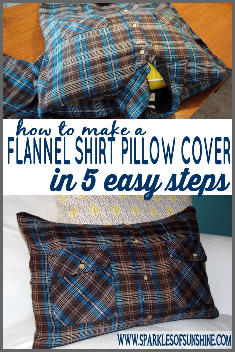 How to Make a Flannel Shirt Pillow in 5 Easy Steps