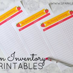 Kitchen Inventory Transformations Free Printables Sparkles Of Sunshine