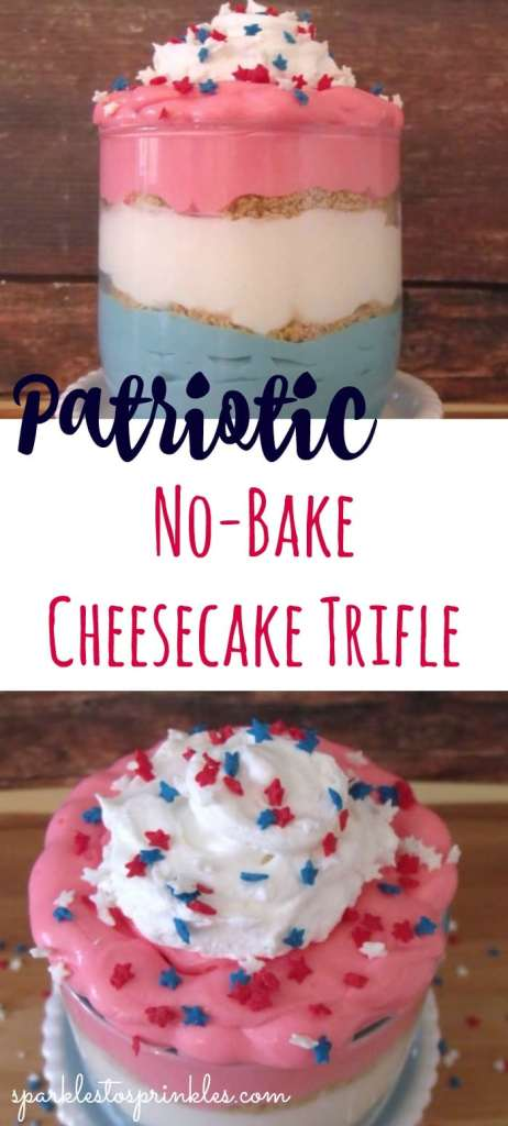 Patriotic No-Bake Cheesecake Trifle