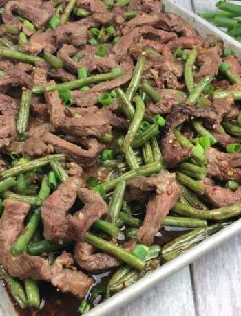 Mongolian beef sheet pan 4-6
