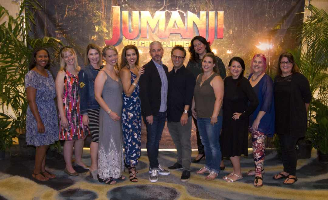 Mommy Bloggers with Jake Kasdan and Matt Tolmach at the JUMNAJI: WELCOME TO THE JUNGLE press junket in Hawaii.