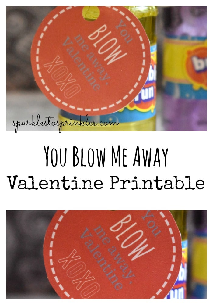 photograph about You Blow Me Away Valentine Printable named On your own Blow Me Absent Valentine Printable - Flickers towards Sprinkles