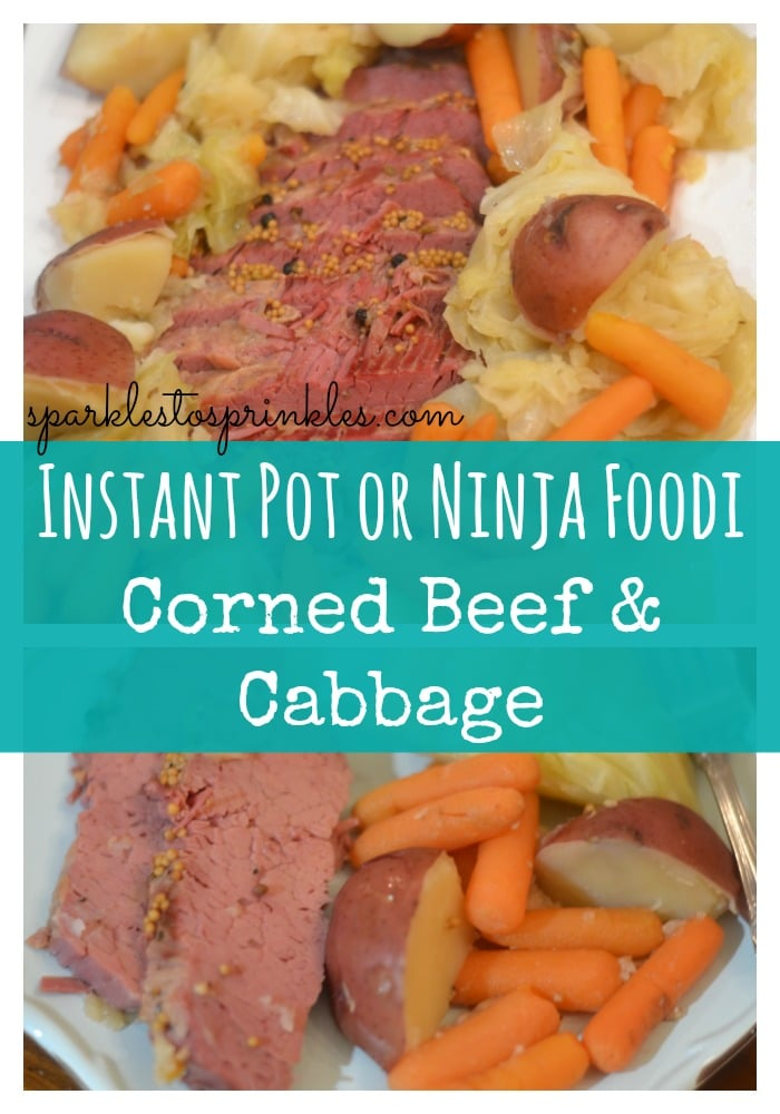 Instant Pot or Ninja Foodi Corned Beef & Cabbage