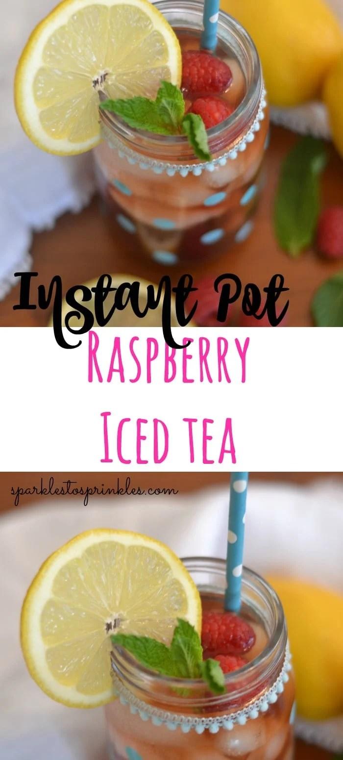 Instant Pot Raspberry Iced Tea