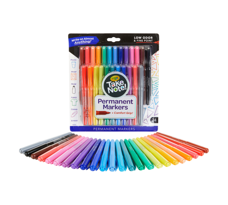 Take Note Permanent Markers, 24 Count | Crayola.com