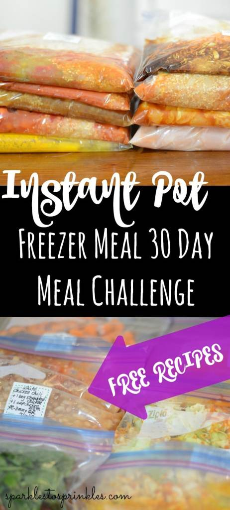 Instant Pot Freezer Meal 30 Day Meal Challenge