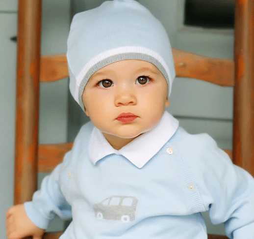 2 Piece Car Sweater-Set With Hat