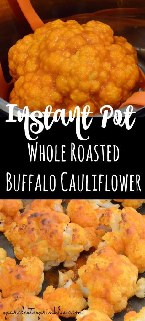 Instant Pot Whole Roasted Buffalo Cauliflower