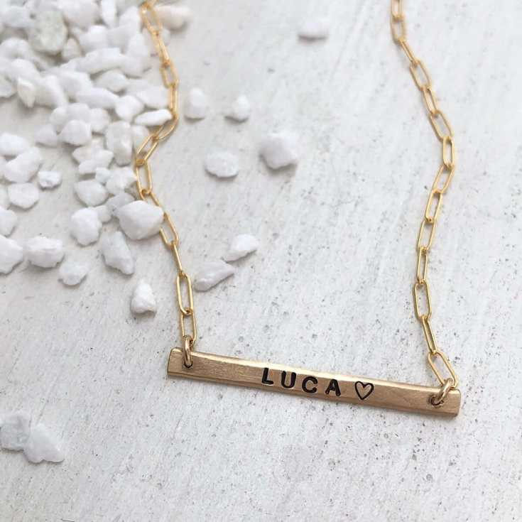 Little ID Bar Necklace