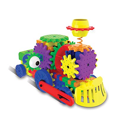 The Learning Journey Techno Gears STEM Construction Set – Crazy Train (60+ Pieces) – Learning Toys & Gifts for Boys & Girls Ages 6 Years and Up