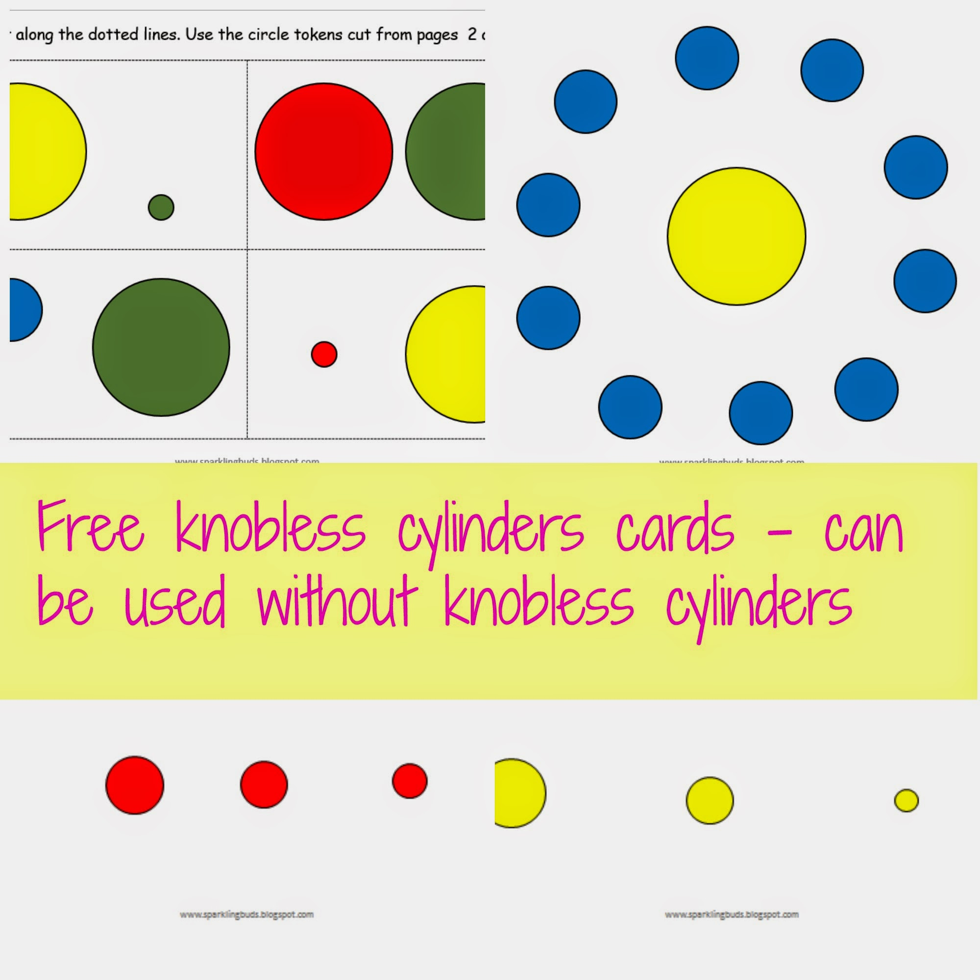 Free Knobless Cylinders Cards For Toddlers