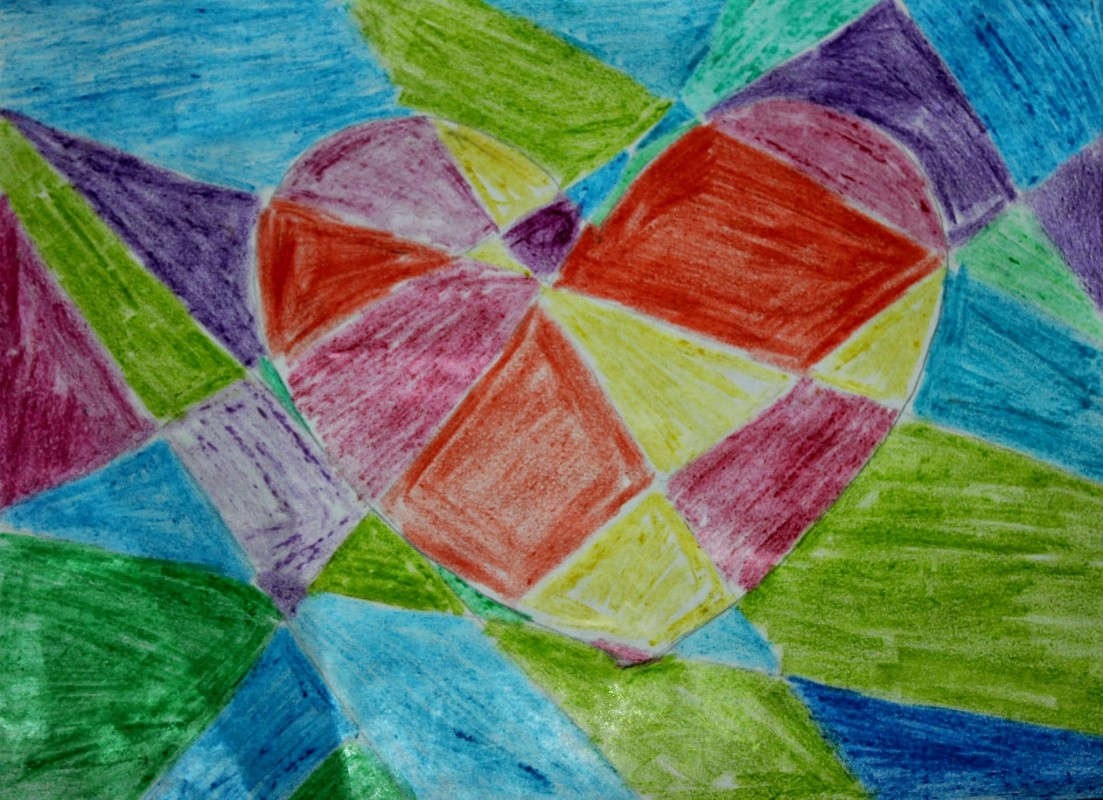 Simple Colored Heart