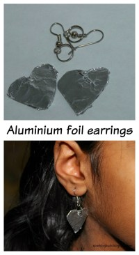 Aluminium foil earrings