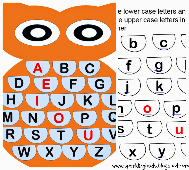 Owl Alphabet Matching