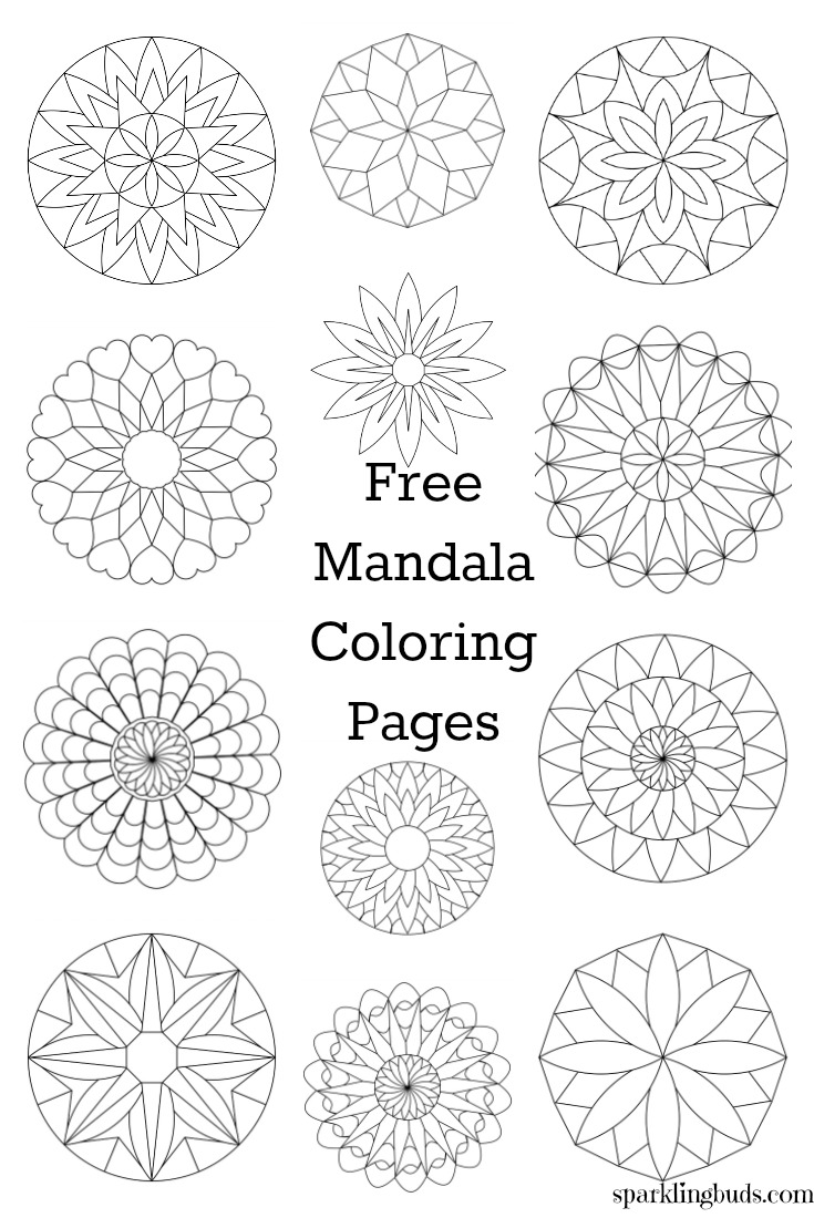 Free Mandala coloring pages, Free Mandala coloring pages