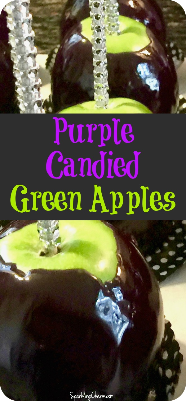 Purple Candied Green Apples
