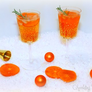 Pretty Persimmon Fizz Cocktail