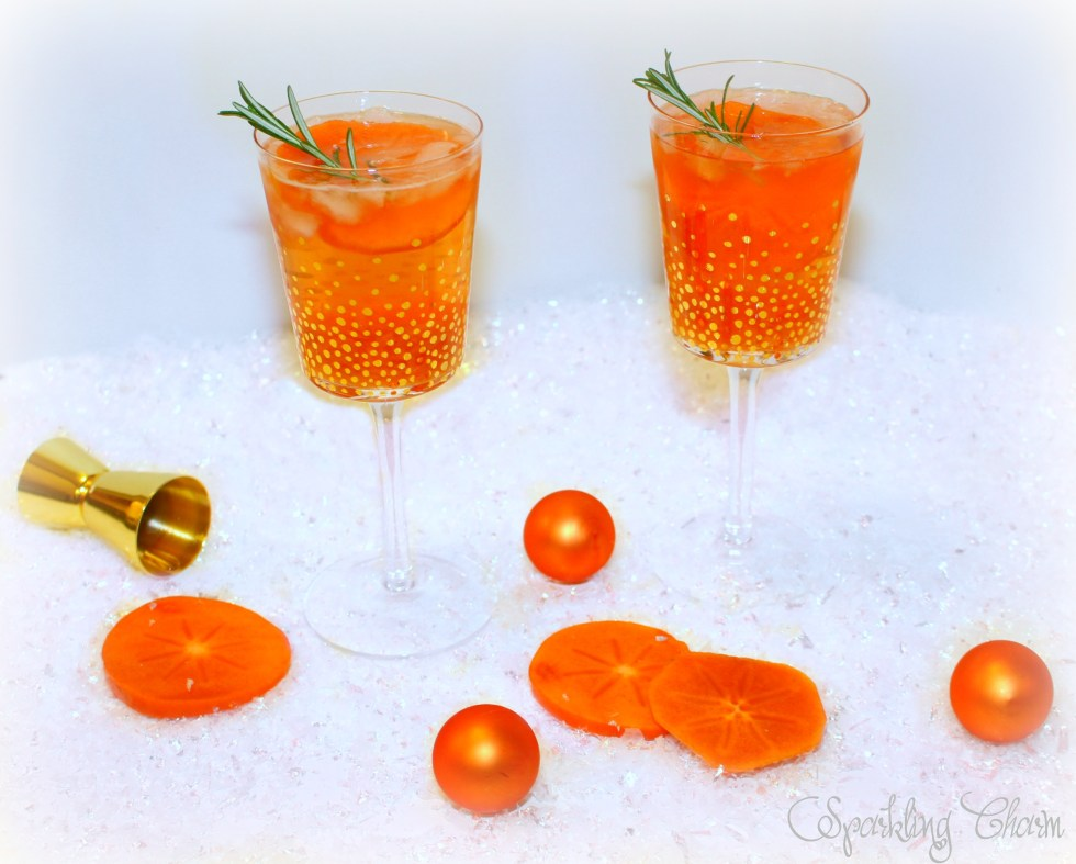 Perfect Persimmon Fizz Cocktail