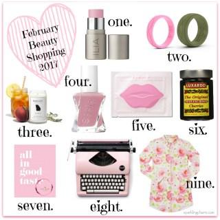 February Beauty Shopping