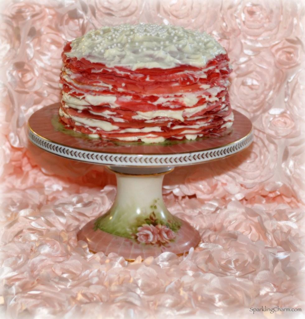 Rose Crepe Cake