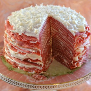 Rose Velvet Crepe Cake