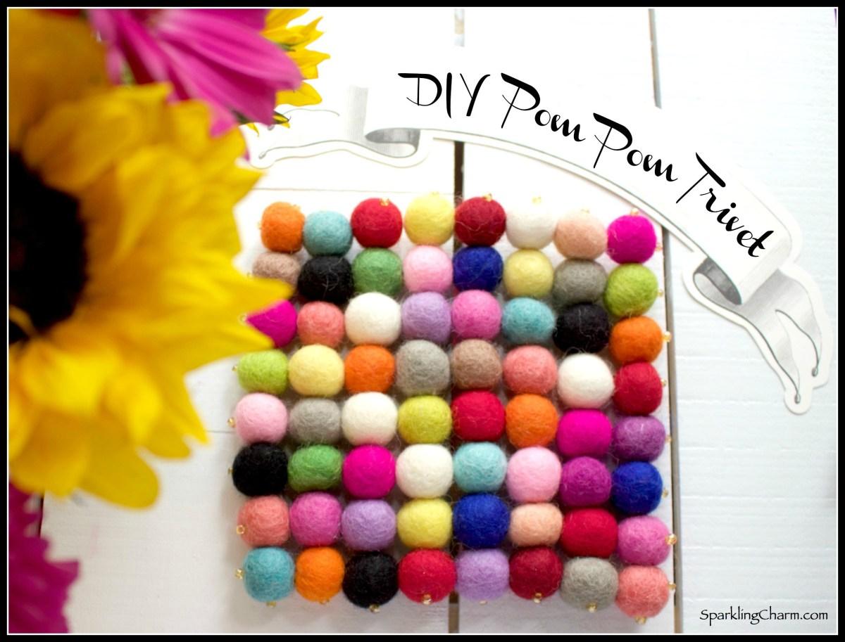 DIY Wool Pom Pom Trivet