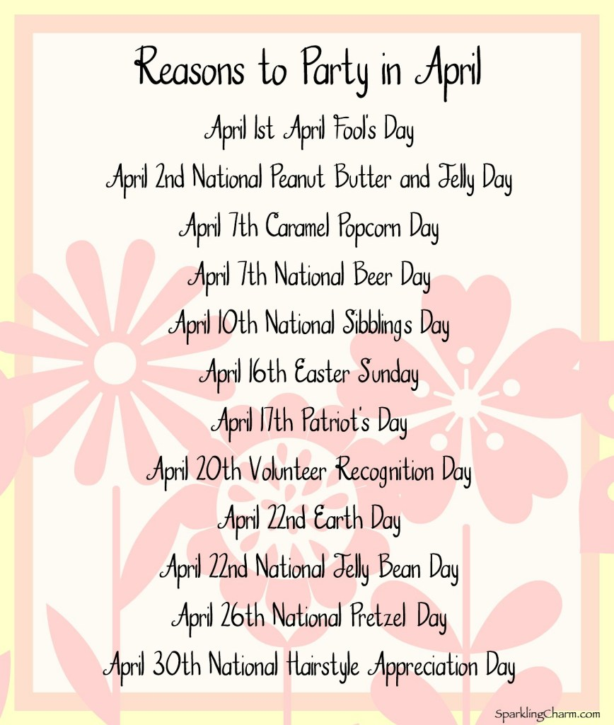 Reasons to Party in April
