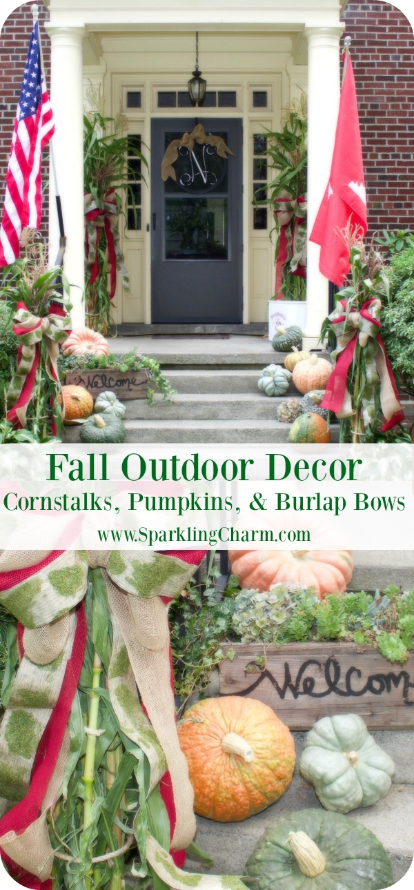 Cornstalks, Fantasy Pumpkins, and Burlap Bows