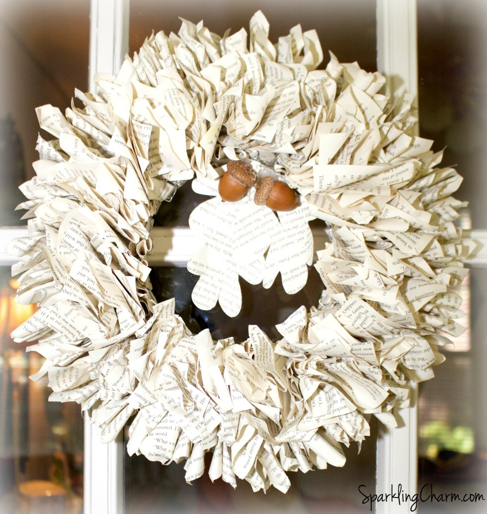 A Simply Beautiful Book Page Leaf Wreath, Garland, & Swag