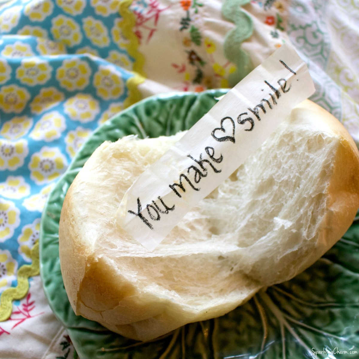 Hidden Message Dinner Rolls