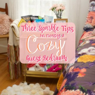 3 Sparkle Tips For Creating A Cozy Guest Bedroom (Free WiFi Passcode Printable)