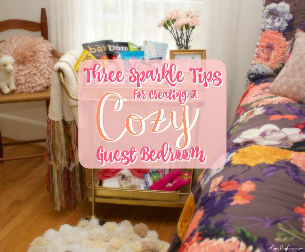 3 Sparkle Tips For Creating A Cozy & Inviting Guest Bedroom (Free WiFi Passcode Printable)