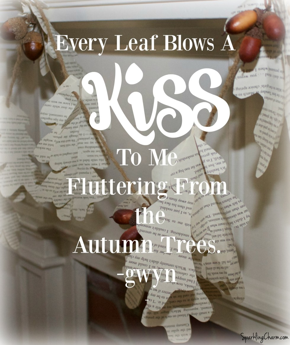 A Simply Beautiful Book Page Leaf Wreath & Garland